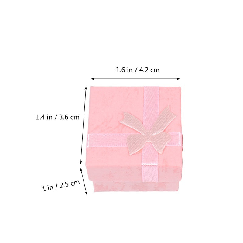 24 Pcs Mini Paper Stylish Gift Storage Boxes Jewelery Organizers for Necklace Bracelet Earring