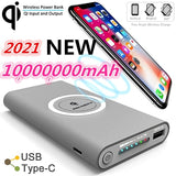 2021 style Power Bank Wireless Charger for Phones Dual USB External Battery Batteries