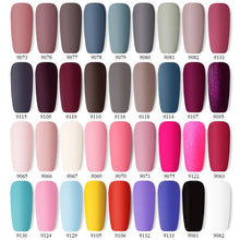 Load image into Gallery viewer, Matte Color UV Gel Nail Polish 10ml Black Red Soak Off Nail Art UV Gel Varnish Matte Top Coat Needed