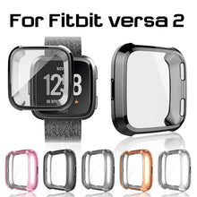 Load image into Gallery viewer, Ultra-Slim Electroplate Transparent TPU Soft Case Cover for Fitbit Versa 2 Smart Watch Accessories Protective Shell