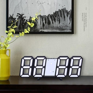 Wall Clock Voice Control Clock 3D LED Digital Alarm Clock Glowing Night Mode Brightness Adjustable Electronic Table Clock Intelligent Wall Clock