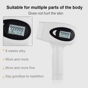 Latest Upgraded 999,999 Photoepilator Flashes Laser LCD Display IPL Laser Hair Removal 8 Gear Permanent Painless Hair Remover
