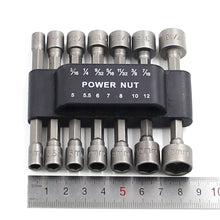 Load image into Gallery viewer, 5/6/14Pcs Hex Socket Sleeve Nozzles Nut Driver Set Drill Bit Adapter