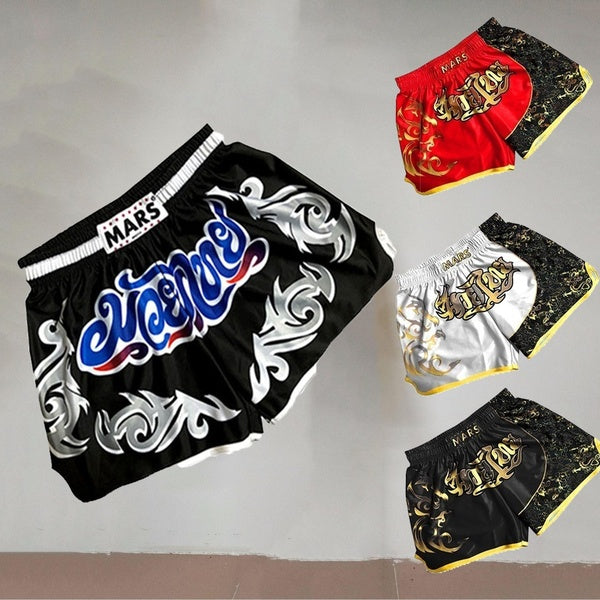 Boxers of Thailand Muay Thai Mixed Boxing Combat Competition Sports Shorts