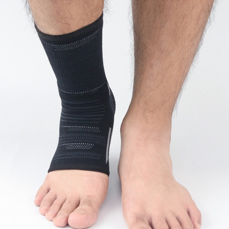 Elastic Breathable Compression Sport Knit Ankle Guard Injury Recovery Joint Pain Ankle Support Sleeve