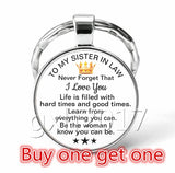 Buy One Get One Fashion Glass Keychain,Woman Keychain,Family Woman Gift,Daughter In Law,Daughter,Granddaughter,Niece,Stepdaughter,Godduahgter,Sister in law Keychain