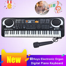 Load image into Gallery viewer, 61 Keys Electronic Organ Digital Piano Keyboard with Microphone Kids Toys Stave Music Toy Develop Child's Talents
