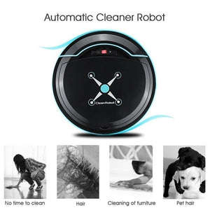 2020 New Upgraded Smart Cleaning Robot Vacuum Cleaner Dust Hair Collector Rechargeable Sweeping Robot Cleaner Aspirateur Robot USB Charge Smart Cleaner
