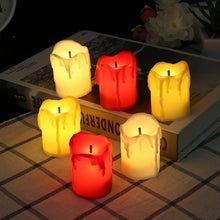 Load image into Gallery viewer, 2/4/6/12PCS LED Flameless Candle Tealight Romantic Electronic Candle Wedding Party Halloween Christmas Home Decoration Gift