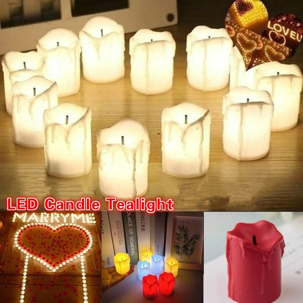 2/4/6/12PCS LED Flameless Candle Tealight Romantic Electronic Candle Wedding Party Halloween Christmas Home Decoration Gift