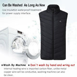 2020 Upgraded Men Outdoor USB Infrared Heating Vest Jacket Winter Carbon Fiber Electric Thermal Clothing Waistcoat Keep Warm Vest