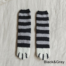 Load image into Gallery viewer, Cute animal Cat paw pattern Fluffy Home Socks Woman Harajuku Winter Thickening Coral Velvet Socks Female