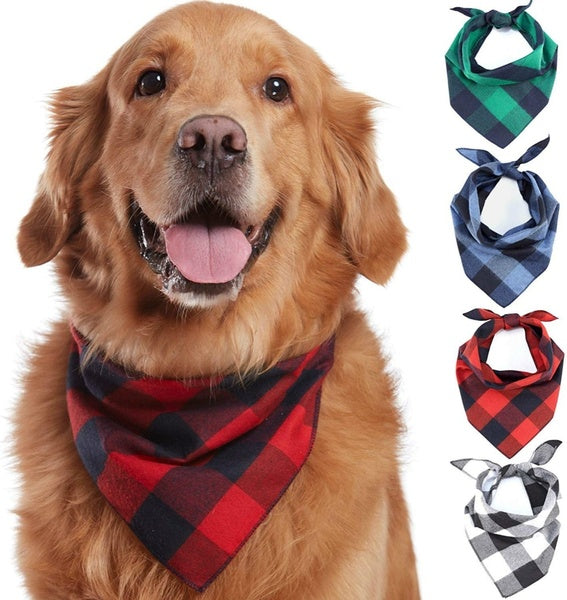 1 PC Dog Bandana Adjustable Pet Puppy Dog Bibs Scarf for Small Medium Large Dog