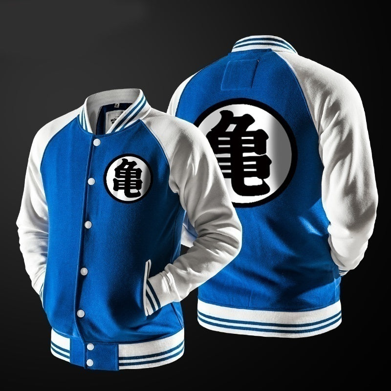 Dragon Ball Z Cartoon Printing Jacket Cosplay Costume DBZ Clothes Casual Hoodie+pants Set