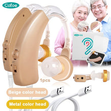 Load image into Gallery viewer, (Two color to choose)Rechargeable Hearing Aid Ear Sound Adjustable Amplifier Hearing Assistance Aid Kit