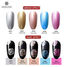 Load image into Gallery viewer, SAVILAND 8ml Metallic Mirror Painting Nail Gel Polish Gold Silver Liner Drawing UV LED Lamp Soak Off Semi Permanent Popular DIY