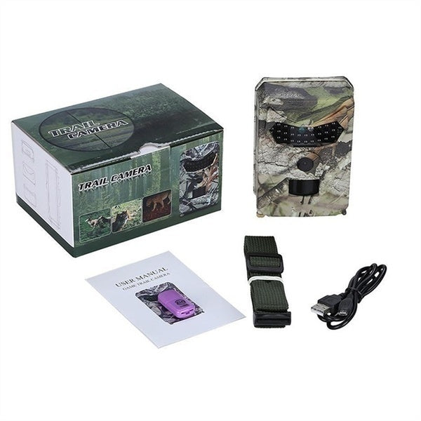 Upgrade Hunting Camera 1080P Full HD Night Vision Hunting Trail Camera 12MP Infrared Night Vision Scouting Camera Trap Hunting Monitoring and Protecting Farm Safety