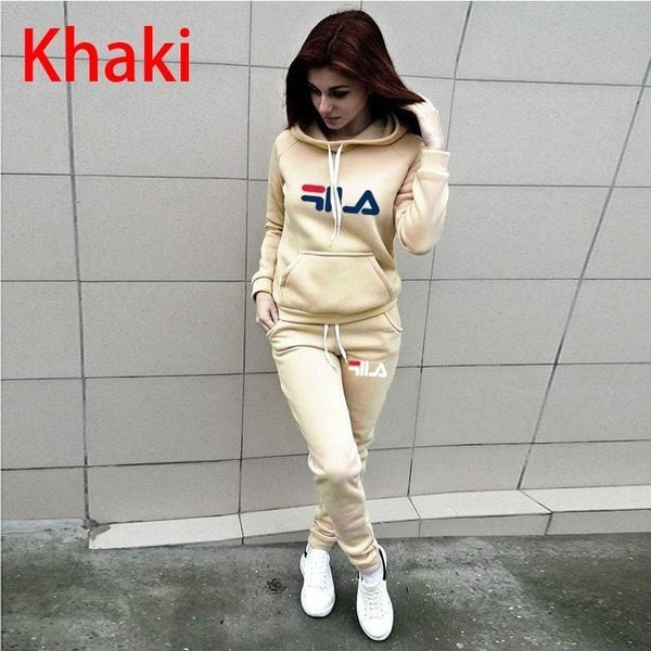 Fashion Women Hoodies + Pants Set Casual Tracksuits Plus Size Sports Clothing Sets