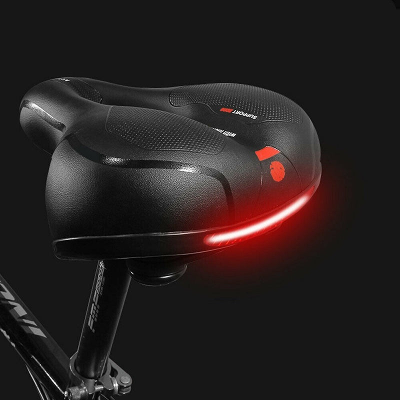 Soft Reflective Bicycle Saddle 24X22cm Breathable Cushion for Mountain Road Bike