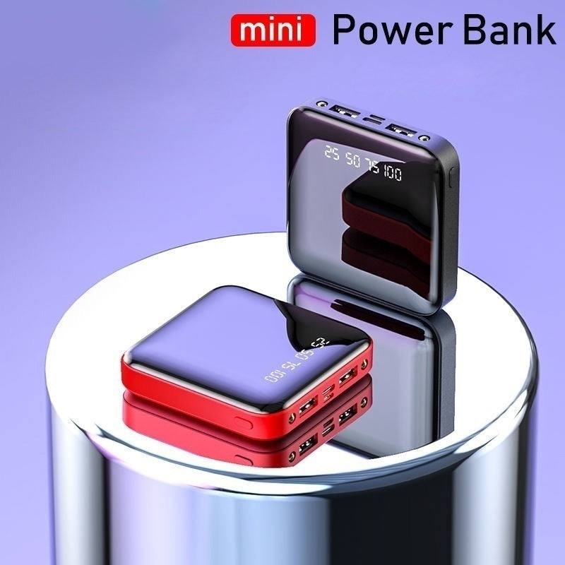 990000mAh Mini Portable Power Bank battery charger 2Usb Ports External battery pack For All Type Phone