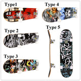 Fashion PRO  Adult Skateboarding  Print Wood Board PU Wheels Complete Deck Skateboard