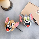 Cartoon Avatar Apple Airpods1 / 2 Protective Cover Wireless Bluetooth Earphone Airpods Anti-fall Silicone Earmuff Case