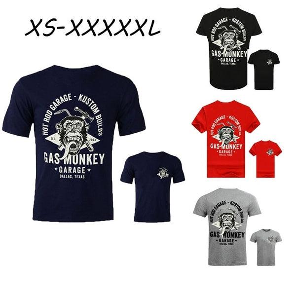 5 Colors Details About Official Gas Monkey Garage Mens Essentials Torch & Hammer T-Shirt GMG