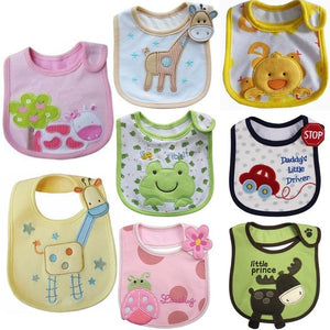 8 Colors Infant Cute Cartoon Saliva Towel Waterproof Antifouling Baby Bib