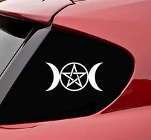 Load image into Gallery viewer, Wiccan Double Moon Goddess Sticker Vinyl Decal Car Bumper Truck Window Wall Sticker