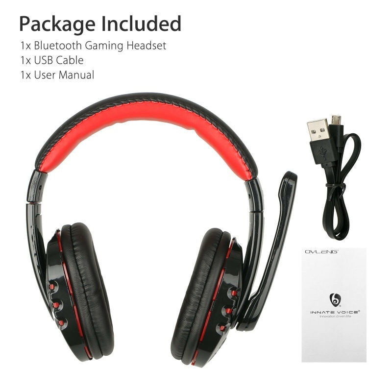 For PS4/PC/Phone/X Box Wireless Bluetooth Gaming Headset LED Volume Control Headphones with Microphone