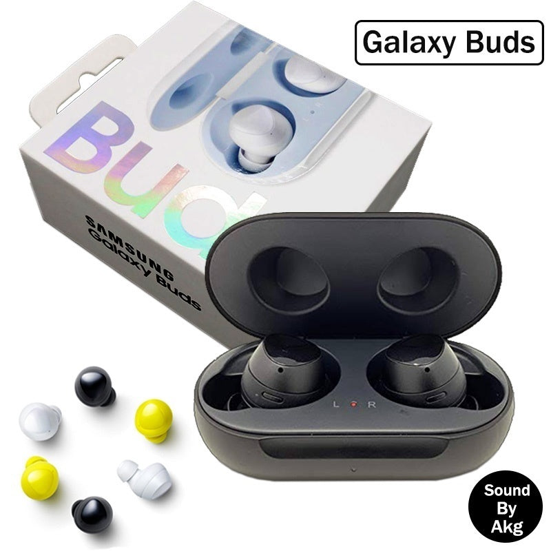 Refurbished 1:1 Samsung Galaxy Buds True Wireless Sweatproof In-ear Stereo Sports Earbuds with Micrphones Noisecanceling Hifi Bass Bluetooth Earphones Mini Headset with NFMI Charging Case