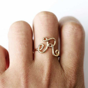 26 Letter Ring A-Z Fashion Lady Letter Ring
