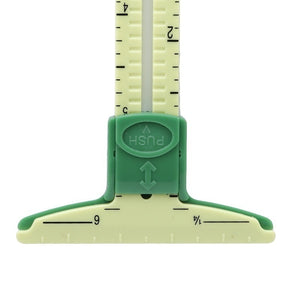 15cm 5 In 1 Plastic Sewing Gauge Ruler Cloth Measuring Scale Tool