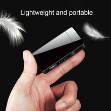 Load image into Gallery viewer, 1Pc Men Fashion Windproof Dual Arc Electric  Lighter Rechargeable Flameless with LED Power Display