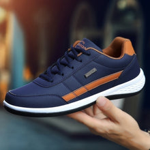 Load image into Gallery viewer, Men's Leather Casual Sneakers Sports Running Shoes Sapatos Femininos Zapatos De Hombre Trainers for Men