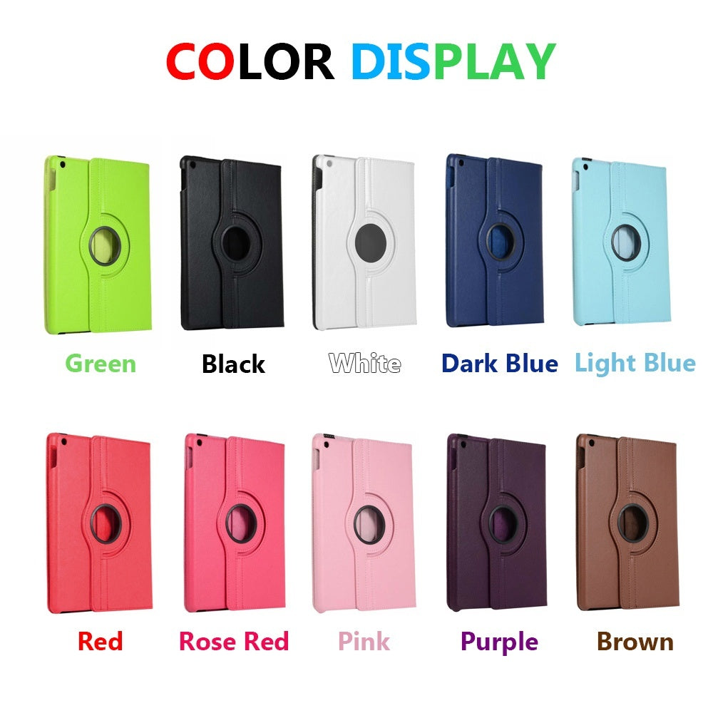 1PC 360 Rotating Smart Case Leather Folding Stand Cover For iPad 7th Generation 10.2' Protection Case Cover