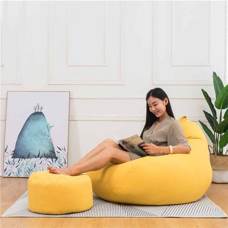 Bean Bag Chairs Couch Sofa Lazy Lounger Cover Indoor Home Decor 8 colors Bean Bag Cover (No filling)