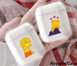 Funny Simpson Pattern Case Protector for Airpods Cartoon Earphone Earbuds Airpods Case Charging Airpods Case Airpods Cover (Without Headphone)