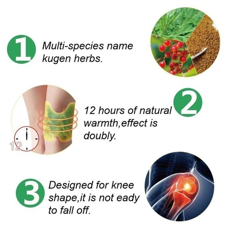 4pcs/12Kpcs knee Plaster Sticker Wormwood Extract Knee Joint Ache Sports Injury Pain Pain Relieving Paster  Knee Rheumatoid Arthritis Body Patch