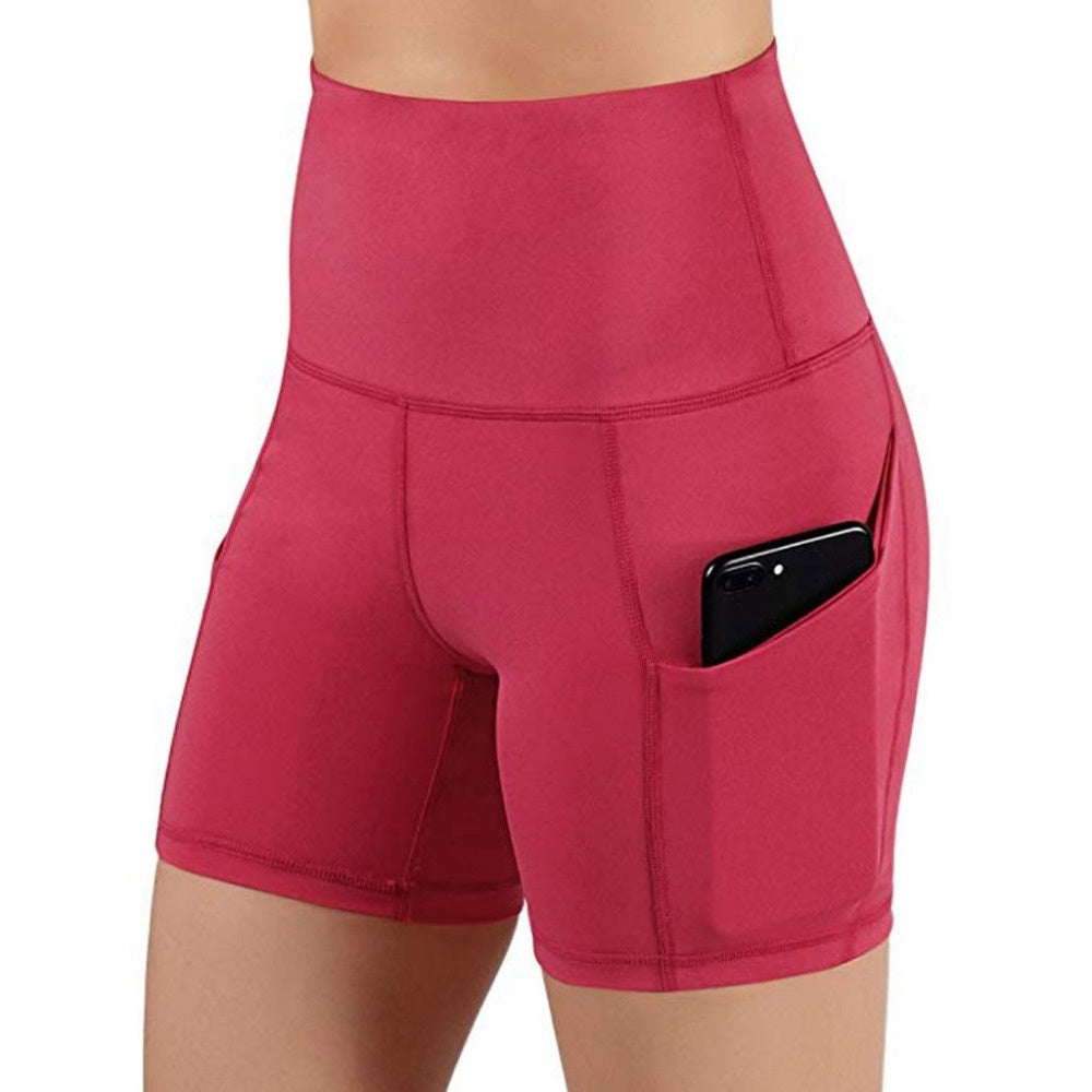 3 Color Summer New Women Fashion Solid Color Safety Shorts Yoga Running Shorts high waist legging plus size S-3XL