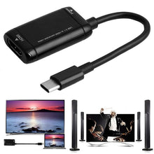 Load image into Gallery viewer, 1PC USB-C Type C to HDMI Adapter USB 3.1 Cable For MHL Android Phone Tablet Black
