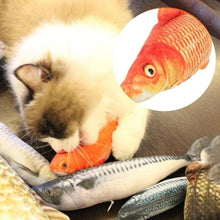 Load image into Gallery viewer, Cat Electric Chargeable Wagging Fish Realistic Plush Toy Simulation Catnip Soft Gift for Pet Cat Chewing