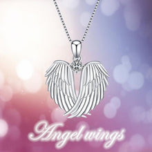 Load image into Gallery viewer, 1Pc Fashion angel wings 925 silver necklace jewelry female jewelry