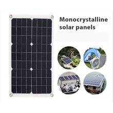 Load image into Gallery viewer, The Latest Hot Sales Waterproof and Snowproof Polysilicon 780W 5V/12V Dual Output USB Solar Panel Flexible Monocrystalline Battery Charge with  Dual High Efficiency USB Solar Controller(Option) for Home/Outdoor Solar Power Kit