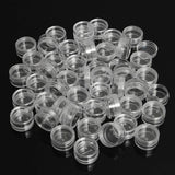 50pcs/Lot 5g Sample Clear Cream Jar Mini Cosmetic Bottles Containers Transparent Pot For Nail Arts Small Clear Can Tin For Balm