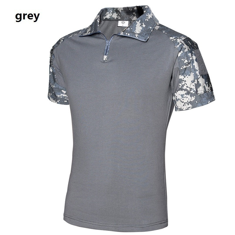 Men Summer Army Combat Tactical T Shirt Military Short Sleeve Top T-Shirts Camouflage Clothes CP ACU Multicamo