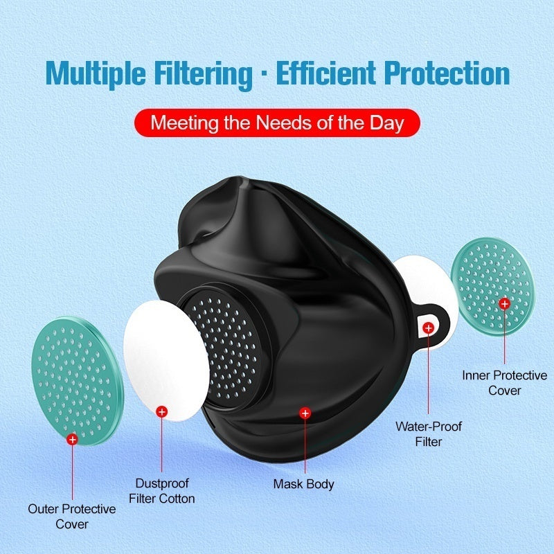 Reusable Protective Mask Anti Dust Mask Protective Surgical Masks Reusable Filter Element Masx