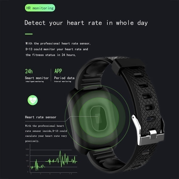 2019 New Smart Watch Bluetooth Sports Watch USB Rechargeable Heart Rate Oxygen Pressure Sleep Monitor Blood Pressure Passometer Alarm Clock Wristwatch Wearable Device For iOS Android Phone