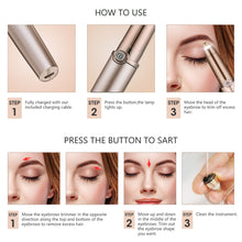 Load image into Gallery viewer, Electric Eyebrow Trimmer Makeup Painless Eye Brow Epilator Mini Shaver Razors Portable Facial Hair Remover