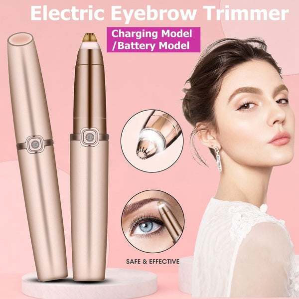 Electric Eyebrow Trimmer Makeup Painless Eye Brow Epilator Mini Shaver Razors Portable Facial Hair Remover